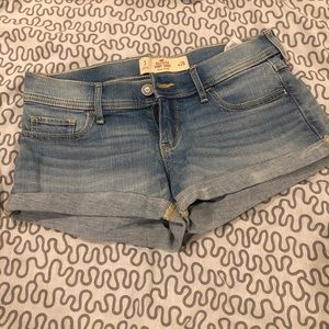 hollister low rise denim jean shorts